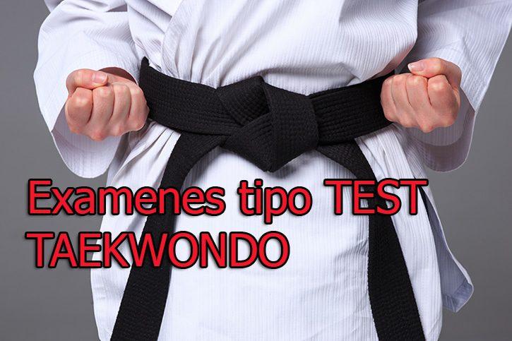 Examen test taekwondo