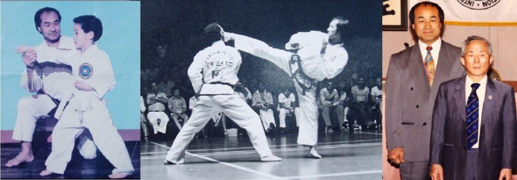 Gran Maestro Park Joong Soo y a la derecha el General Choi