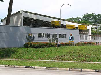 Base Aérea Changi - Entrada oeste