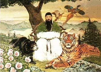 El tigre y la osa de la leyenda de dangun